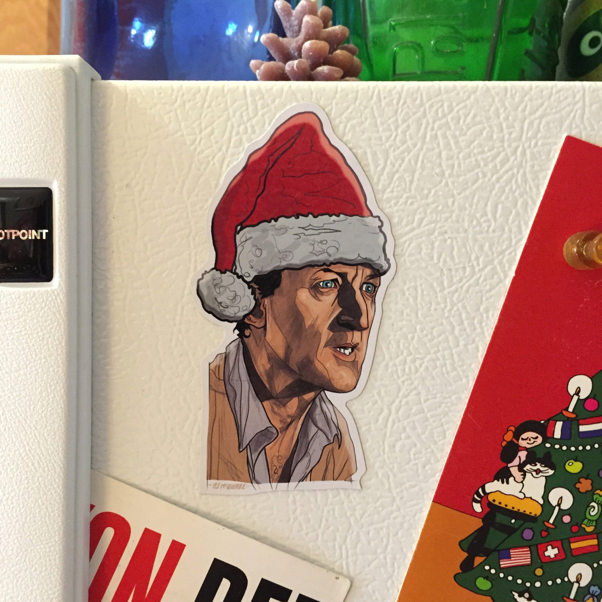 MULDOON Jurassic Park Christmas FRIDGE MAGNET!