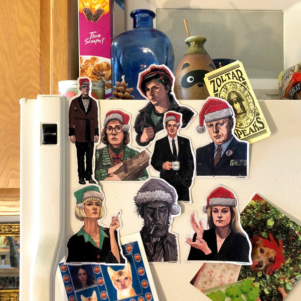 TWIN PEAKS Christmas Fridge Magnet 9 Pack SET!