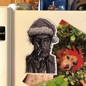 The WOODSMAN Twin Peaks Christmas FRIDGE MAGNET!