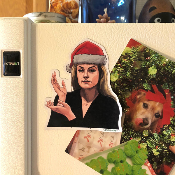 LAURA PALMER Twin Peaks Christmas Fridge MAGNET!