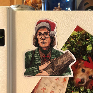 LOG LADY Twin Peaks Christmas Fridge MAGNET!