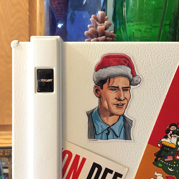 GEORGE McFLY Back to the Future Christmas Fridge MAGNET!