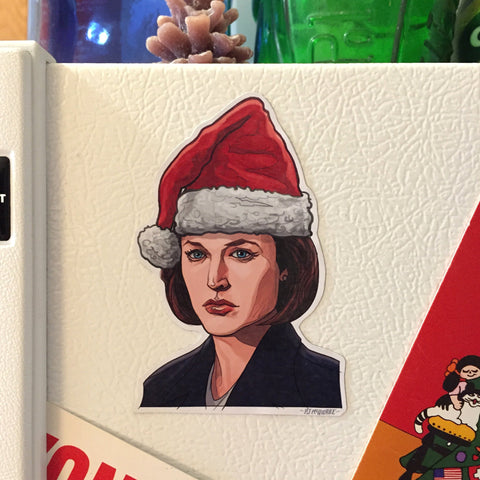 Dand Scully X-FILES Christmas Fridge MAGNET!