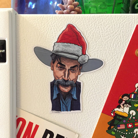 SAM ELLIOT Big Lebowski Christmas Fridge MAGNET!