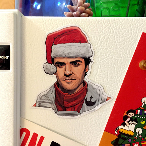 POE DAMERON Star Wars Christmas Fridge MAGNET!