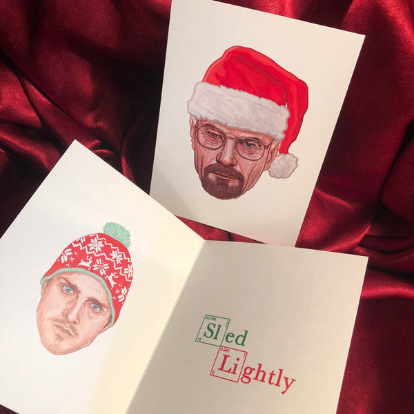 10 PACK BREAKING BAD Christmas Cards