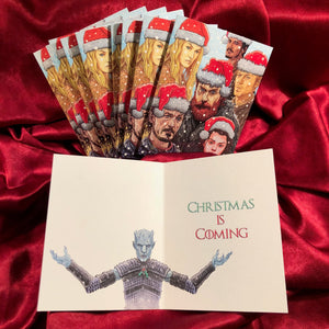 10 PACK GAME of THRONES The Night King Christmas Cards!