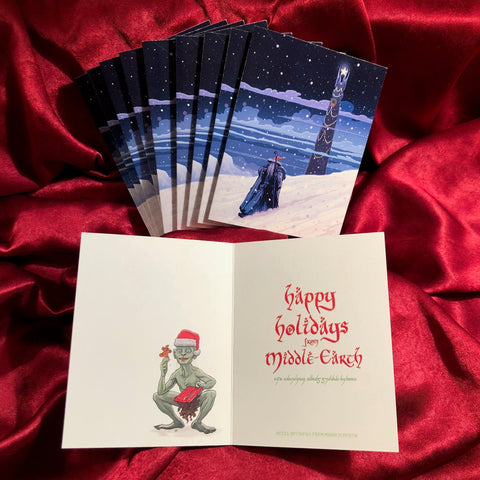 10 PACK GANDALF Lord of the Rings CHRISTMAS CARDS!