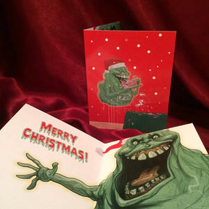 GHOSTBUSTERS Slimer CHRISTMAS CARD!