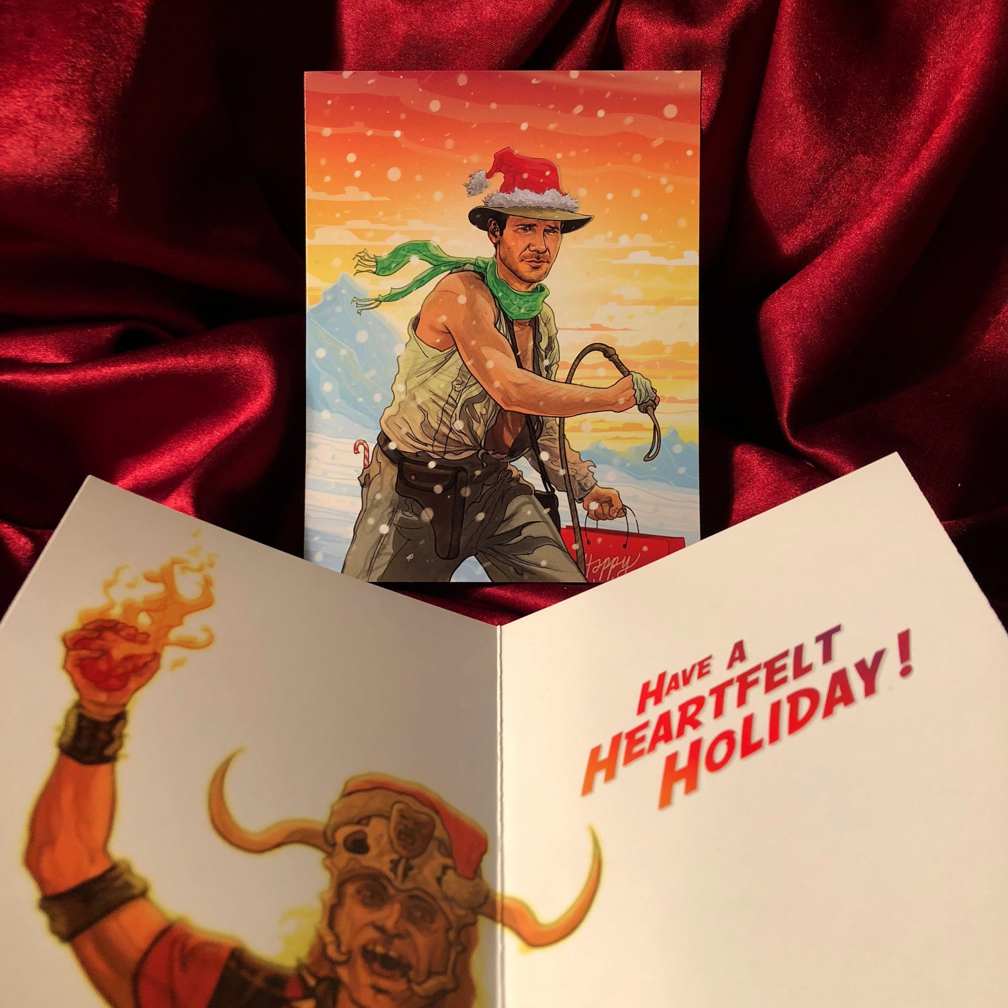 INDIANA JONES Temple of Doom CHRISTMAS Card!