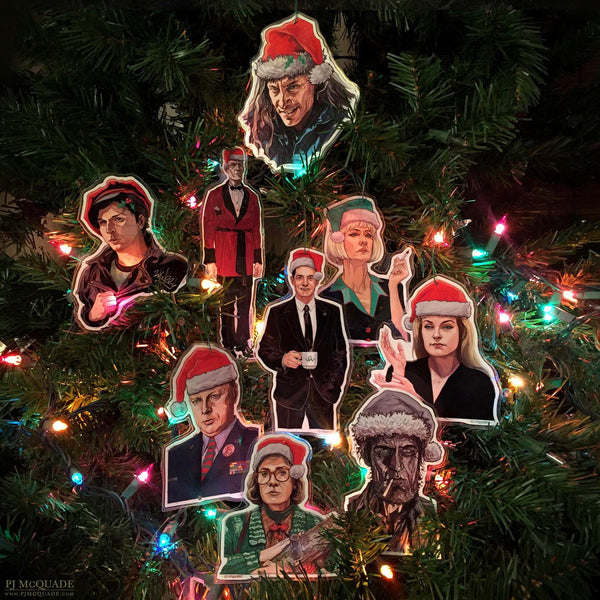 TWIN PEAKS Christmas Ornament 9 Pack SET!