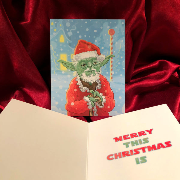 YODA Star Wars CHRISTMAS CARD!
