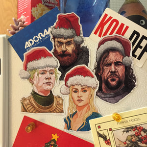 4 PACK Game of Thrones CHRISTMAS MAGNETS!