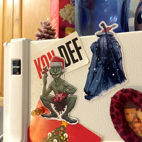 GOLLUM/GANDALF Lord of the Rings Christmas Frdge MAGNETS!