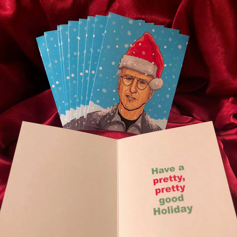 10 PACK LARRY DAVID Curb Your Enthusiasm Christmas CARDS!