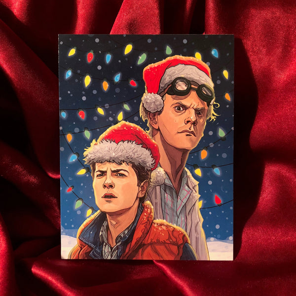 10 PACK BACK to the FUTURE Christmas CARDS!