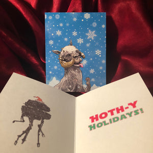 TAUNTAUN Star Wars CHRISTMAS CARD!
