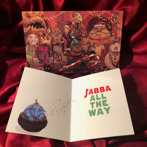 JABBA BELLS Star Wars Christmas CARD!