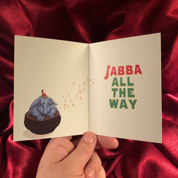 10 PACK JABBA BELLS Star Wars Christmas CARDS!