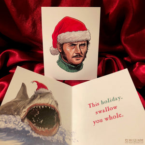 QUINT JAWS CHRISTMAS CARD!