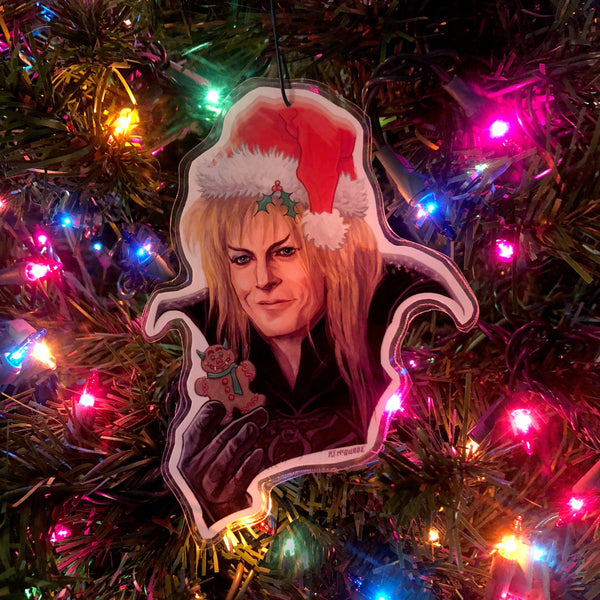 JARETH Labyrinth David Bowie CHRISTMAS ORNAMENT!