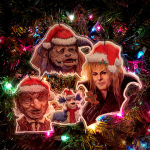 LABYRINTH 4 Pack CHRISTMAS ORNAMENTS!