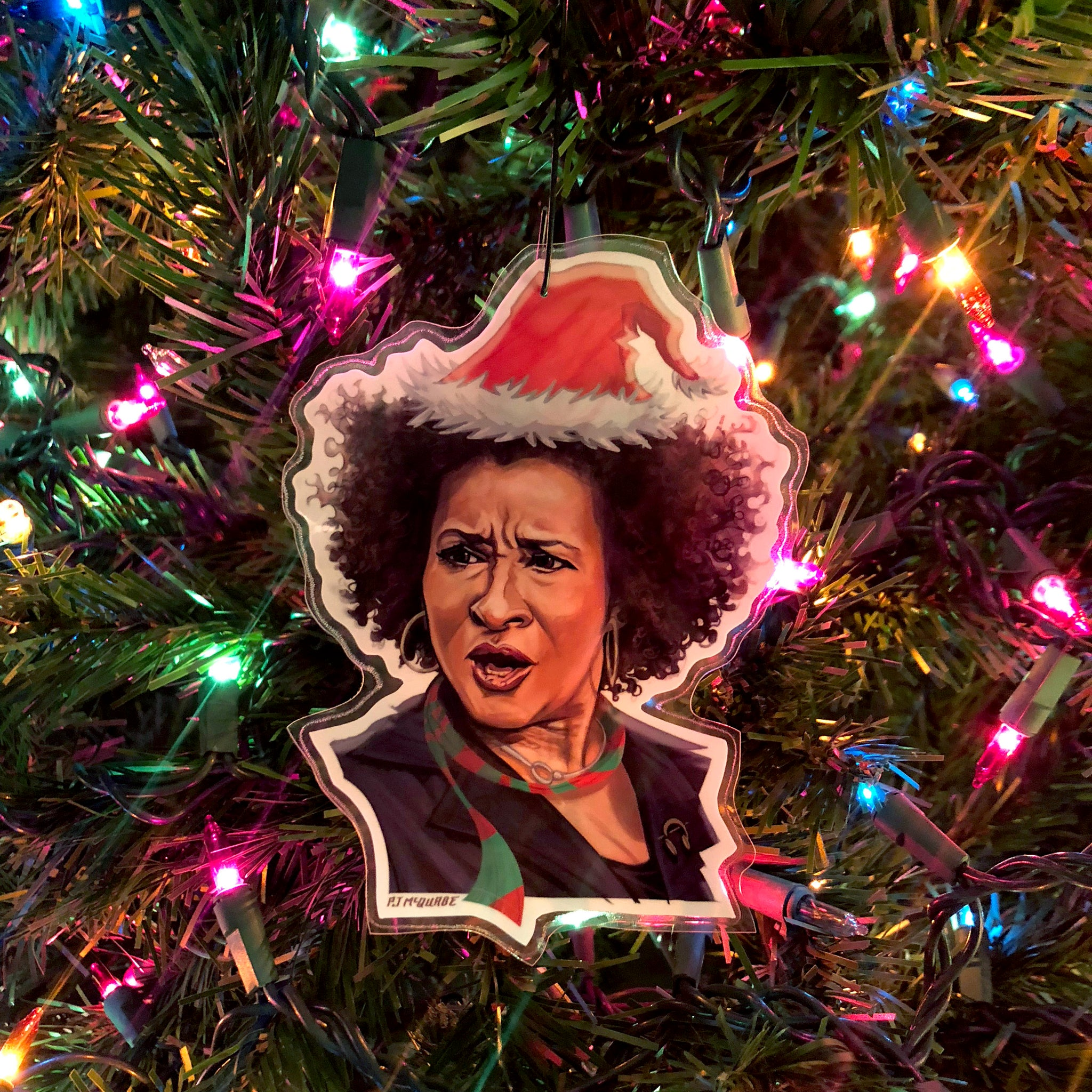 WANDA SYKES Curb Your Enthusiasm Christmas ORNAMENT!