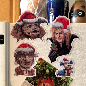 LABYRINTH Inspired Christmas Fridge MAGNET 4 PACK!