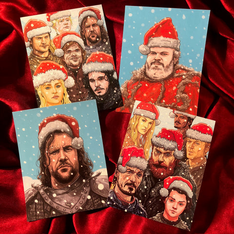 GAME of THRONES Christmas Cards 4 PACK!