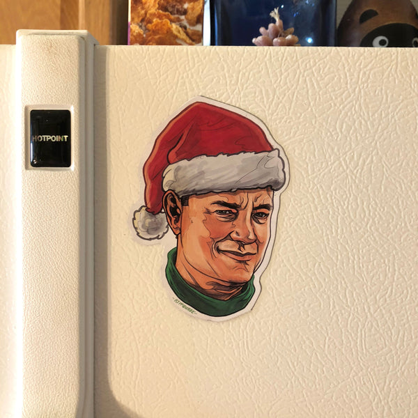 TOM HANKS Christmas Fridge MAGNET!