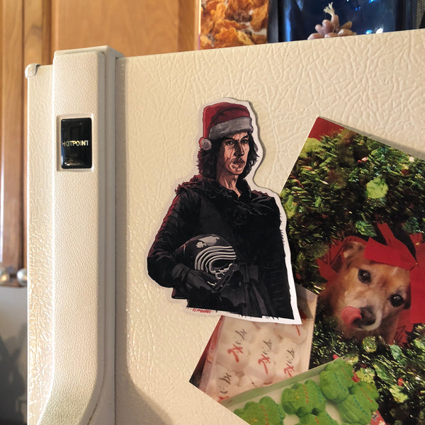 Kylo Ren STAR WARS CHRISTMAS Fridge Magnet!