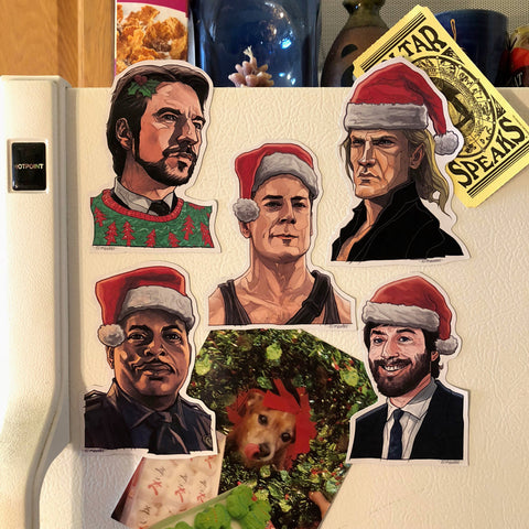 DIE HARD Christmas 5 Pack Fridge MAGNETS!