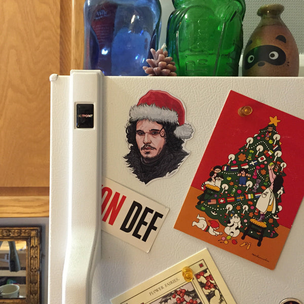 Jon SNow GAME of THRONES Christmas Fridge MAGNET!