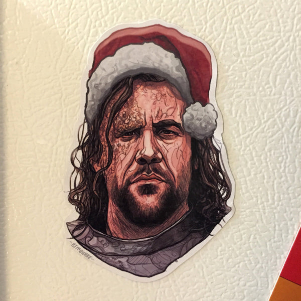 THE HOUND Game of Thrones Christmas Fridge MAGNET!
