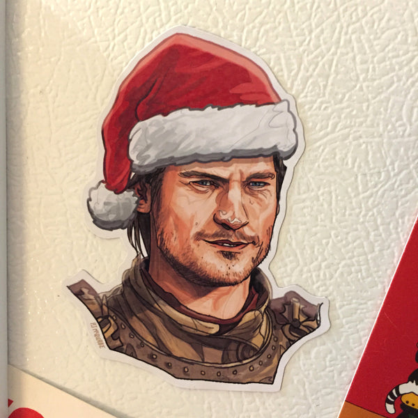 JAMIE LANNISTER Game of Thrones CHRISTMAS Fridge Magnet!