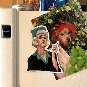 DIANE Twin Peaks Christmas FRIDGE MAGNET!