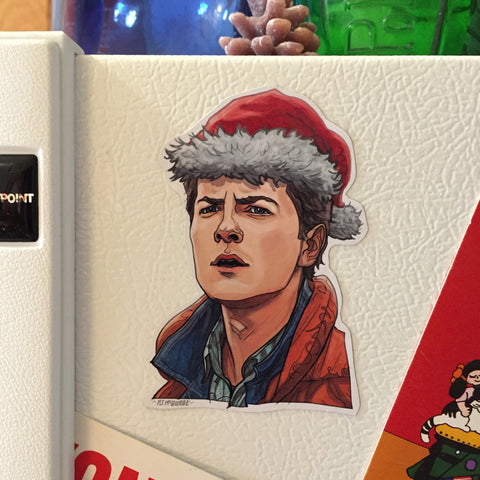 Marty McFly BACK to the FUTURE Christmas Fridge MAGNET!