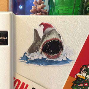 JAWS Open Mouth Christmas Fridge MAGNET!