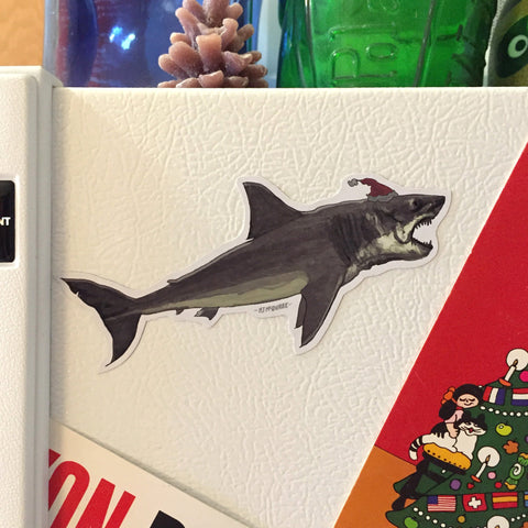 JAWS Shark Side Christmas Fridge MAGNET!