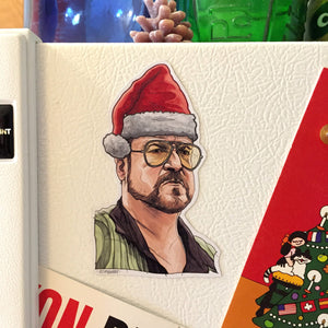 WALTER Big Lebowski Christmas Fridge MAGNET!