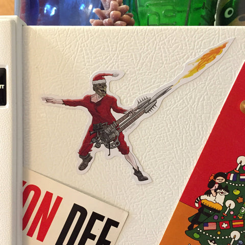 The Doof Warrior MAD MAX: FURY ROAD Christmas Fridge MAGNET!