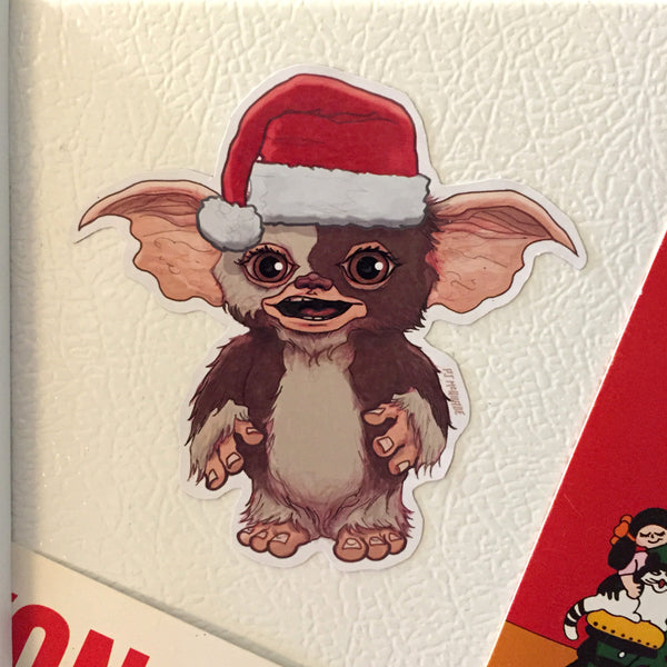 Gizmo GREMLINS Christmas FRIDGE MAGNET!