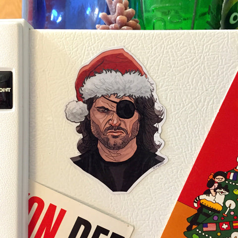 SNAKE PLISSKEN Escape From New York Christmas Fridge MAGNET!