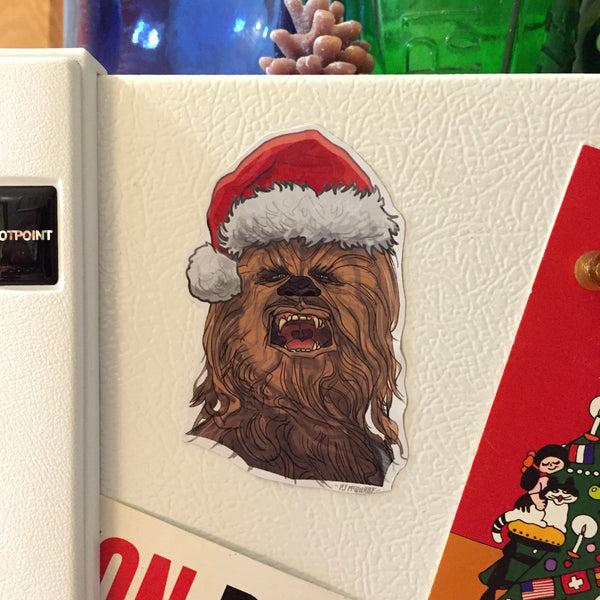 CHEWBACCA Star Wars Christmas Fridge MAGNET!