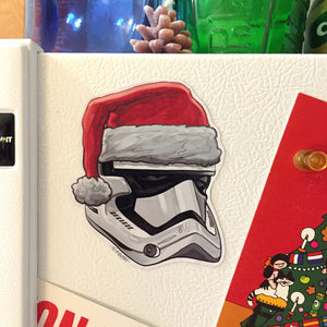 First Order STORMTROOPER Star Wars Christmas Fridge MAGNET!