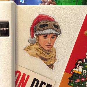 REY Star Wars Christmas Fridge MAGNET!