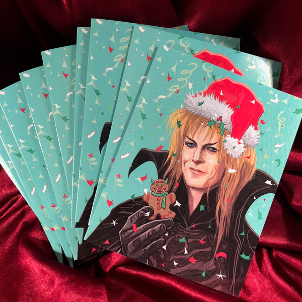 10 PACK LABYRINTH Jareth CHRISTMAS CARDS!