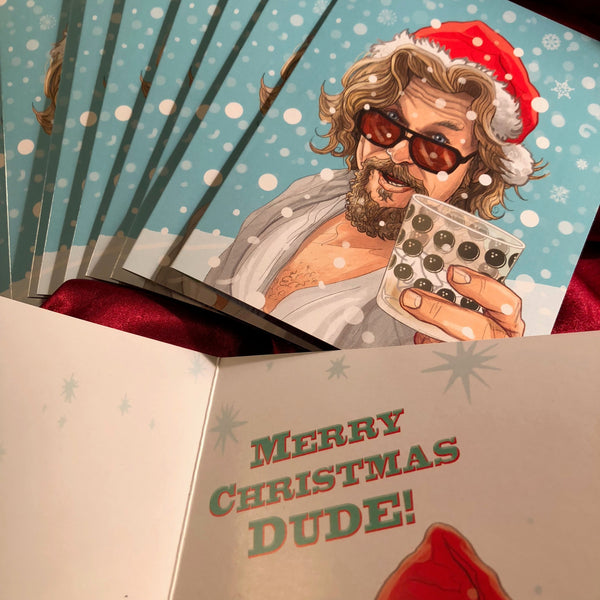 10 PACK BIG LEBOWSKI Christmas CARDS!