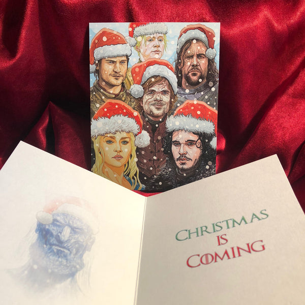 10 PACK GAME of THRONES White Walker Christmas Cards!