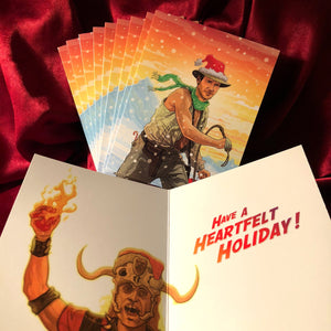 10 PACK INDIANA JONES Temple of Doom CHRISTMAS Cards!